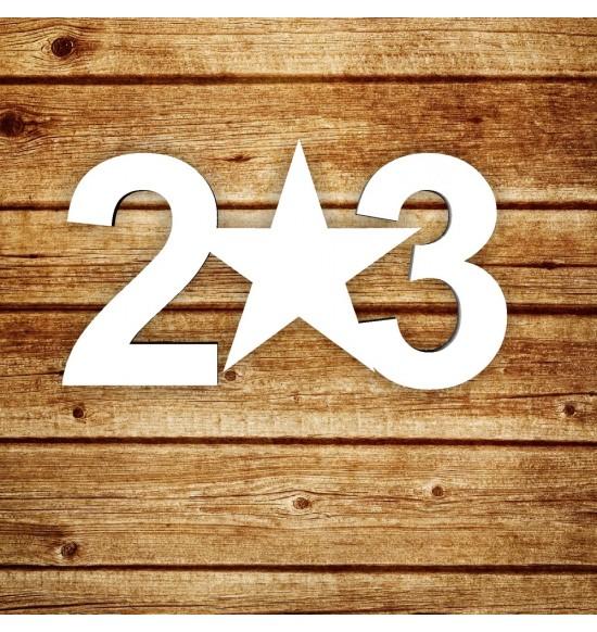 """Табличка """"23"""""""