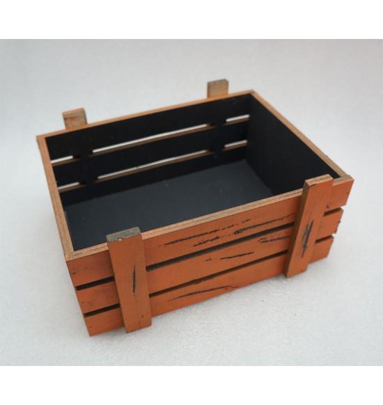 Старинный(потертый) ящик страха без крышки черно-оранж