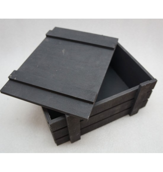 Ящик страха черный с крышкой