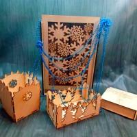 Подарочная упаковка из дерева на Новый Год