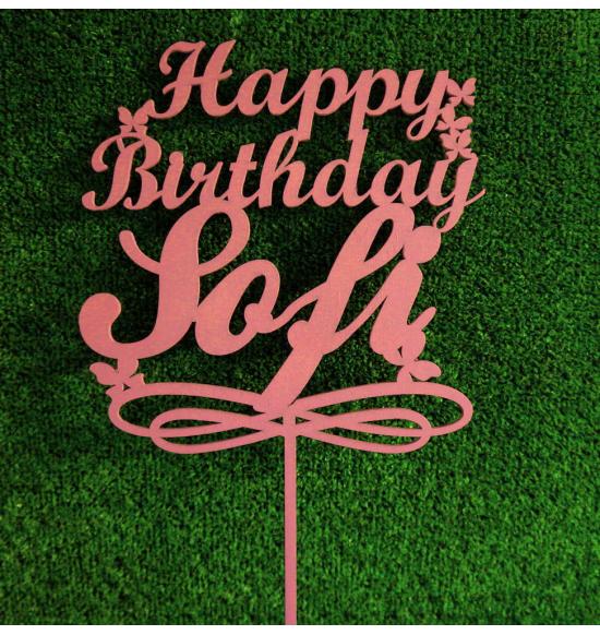 Топпер со словами happy birthday на заказ