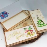 Купить конверты для денег на Новый Год из дерева оптом!