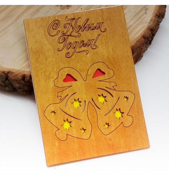 """Деревянная открытка """"Колокольчики"""" - 3"""