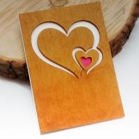 Купить деревянную открытку с любовью оптом