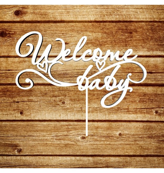 "Топпер ""Welcome baby"""