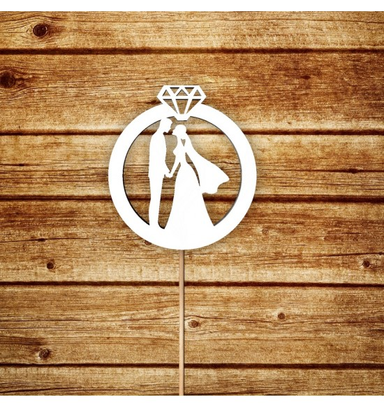 """Топпер-кольцо """"Жених и невеста"""""""