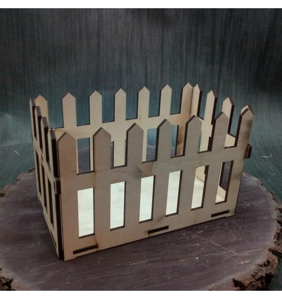 Кашпо из дерева заборчик прямоугольный