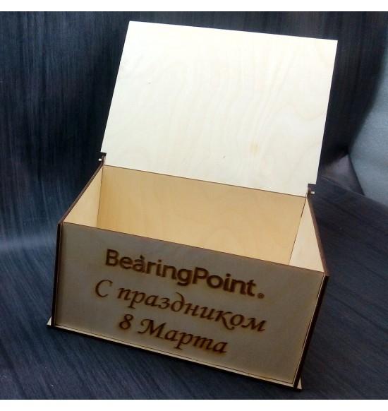 Коробочка для подарков с надписью на заказ