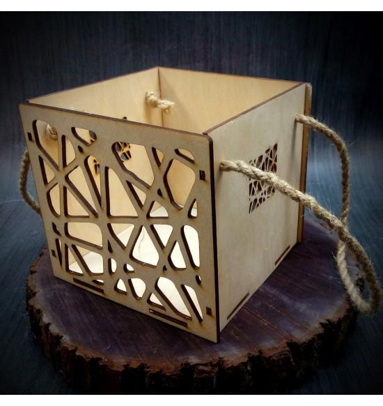 Коробки подарочные, Коробочка Паутинка, 15x15x15 см,