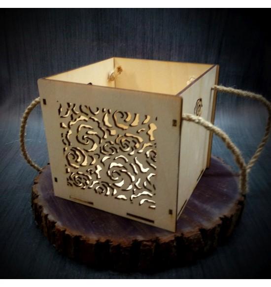 Коробки подарочные, Коробочка Розарий, 15x15x15 см,