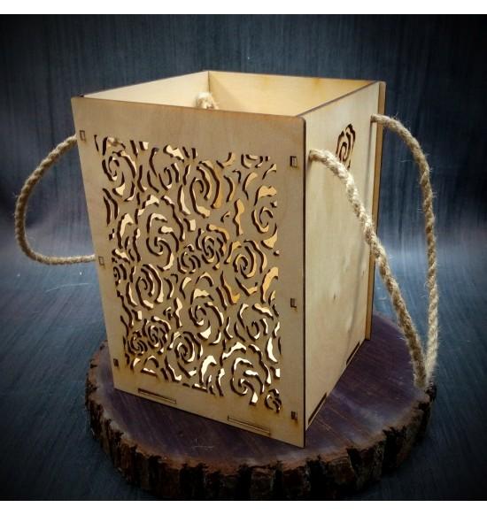 Коробки подарочные, Коробочка Розарий, 22x22x30 см,