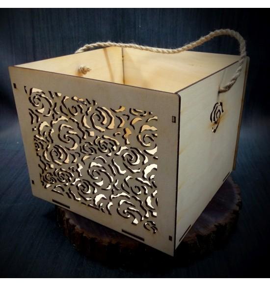 Коробки подарочные, Коробочка Розарий, 25x25x17 см,
