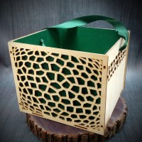 Купить деревянную упаковку для цветов и подарков оптом