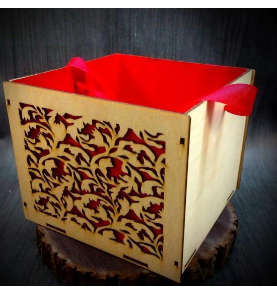 Коробки подарочные, Коробочка Оранжерея, 25x25x17 см,