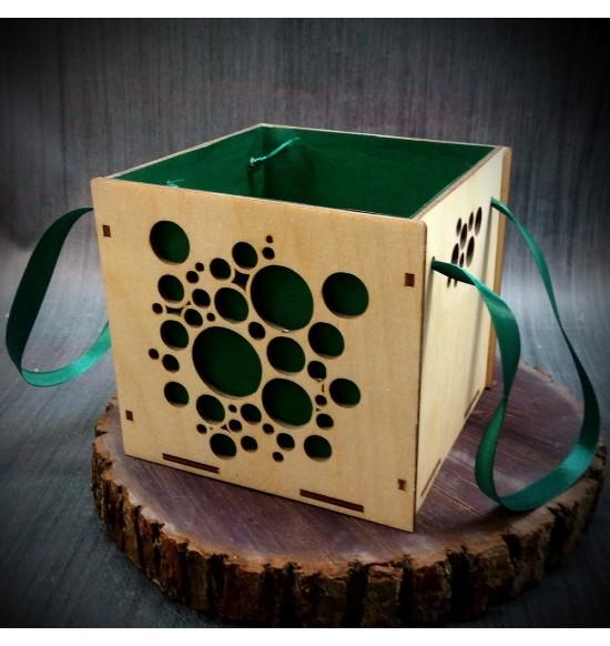 Коробки подарочные, Коробочка Пузырьки, 15x15x15 см,