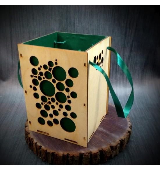 Коробки подарочные, Коробочка Пузырьки, 22x22x30 см,