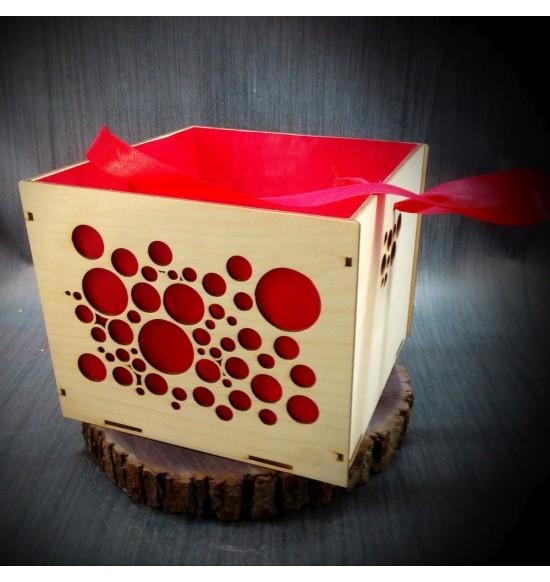 Коробки подарочные, Коробочка Пузырьки, 25x25x17 см,