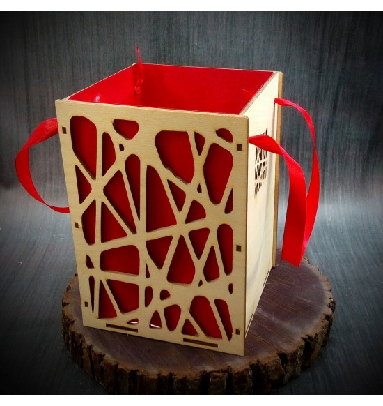Коробки подарочные, Коробочка Паутинка, 22x22x30 см,
