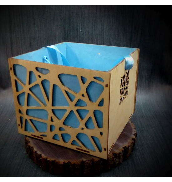 Коробки подарочные, Коробочка Паутинка, 25x25x17 см,