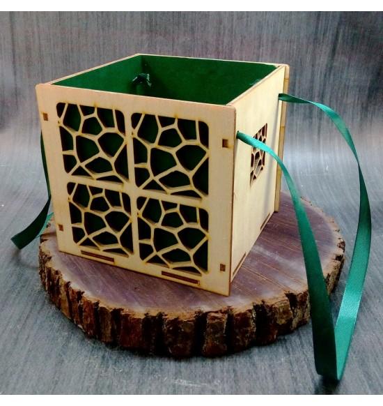 Коробки подарочные, Коробочка Сафари, 15x15x15 см,