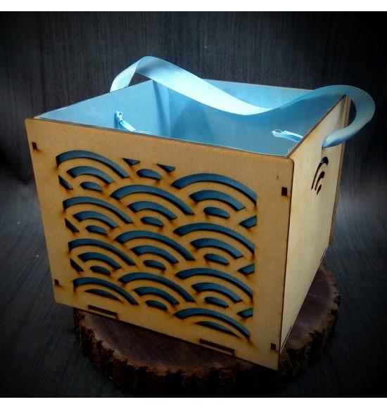 Коробки подарочные, Коробочка Радуга, 25x25x17 см,