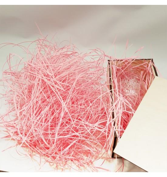 """Наполнитель для подарочных коробок 50г. """"розовая  пастель"""""""