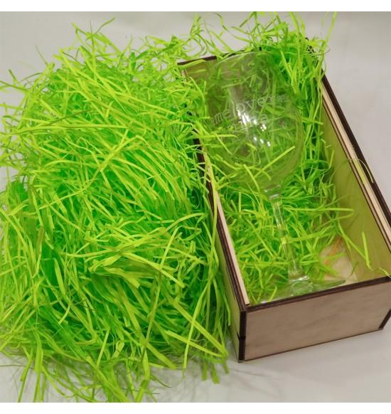 """Наполнитель для подарочных коробок 50 г """"ярко зеленый """""""