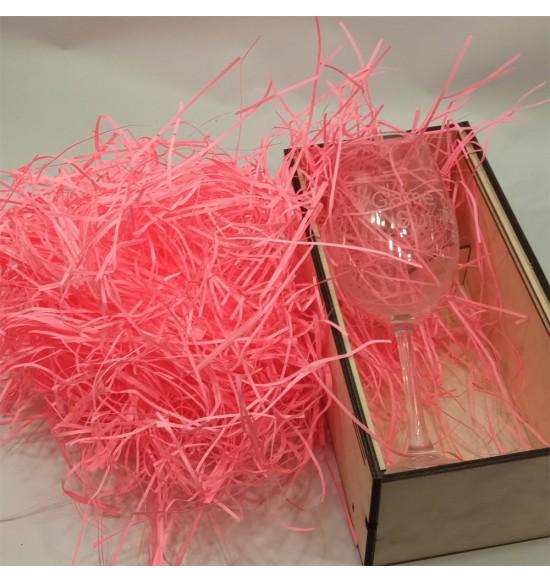 """Наполнитель для подарочных коробок 50 г """"ярко-розовый"""""""