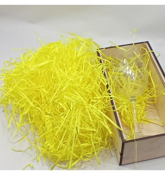 """Наполнитель для подарочных коробок 50 г  """"ярко-желтый"""""""