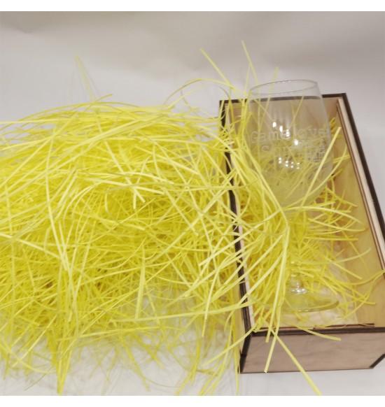 """Наполнитель для подарочных коробок 50 г """"желтый"""""""
