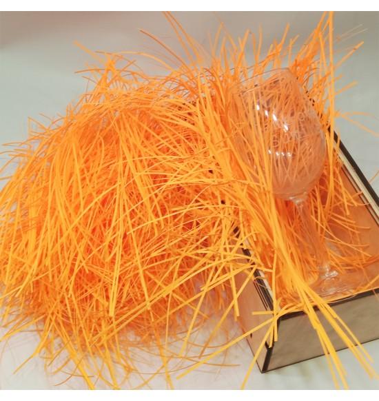 """Наполнитель для подарочных коробок 50 г  """"оранжевый"""""""
