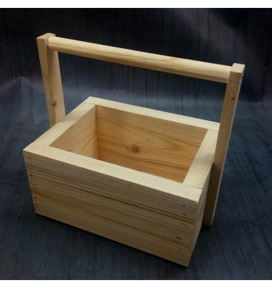 Деревянный ящик с ручкой малый