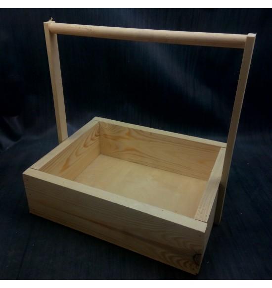 Деревянный ящик с ручкой большой