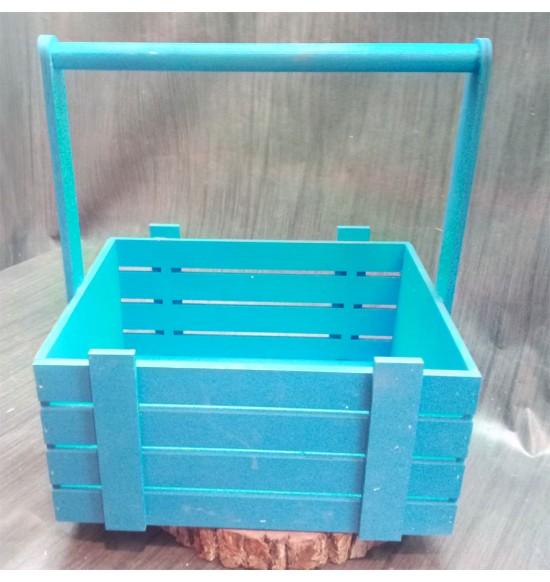 Ящик из фанеры №3. C ручкой, большой, покраска