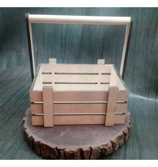 Ящик из фанеры №3 Cручкой Малый некрашеный