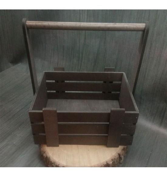 Ящик из фанеры №3. C ручкой, средний, морилка