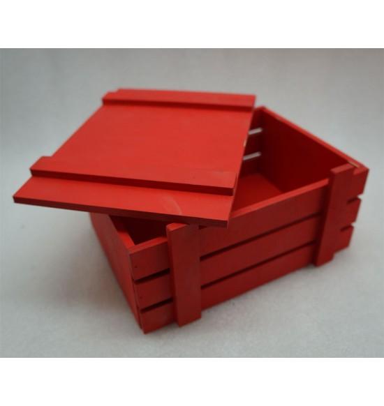Ящик из фанеры для подарков и цветов ,Крашеный С цельной крышкой