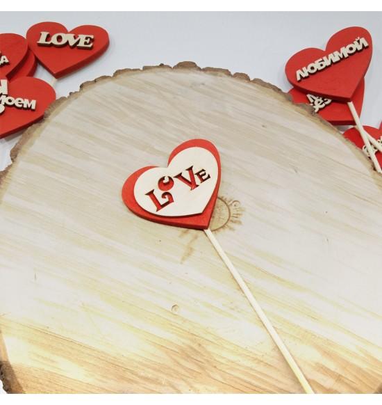 "Топпер-валентинка ""Love сердечко"""