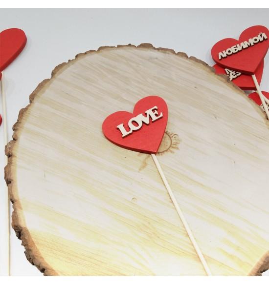 "Топпер-валентинка  ""Love"""