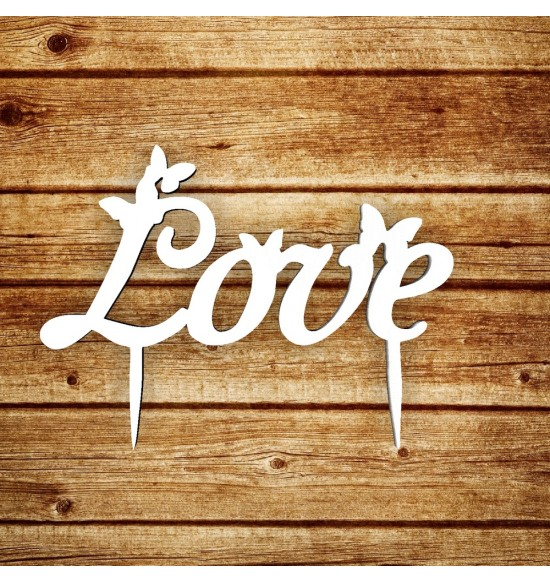 "Топпер ""Love"" с бабочками"